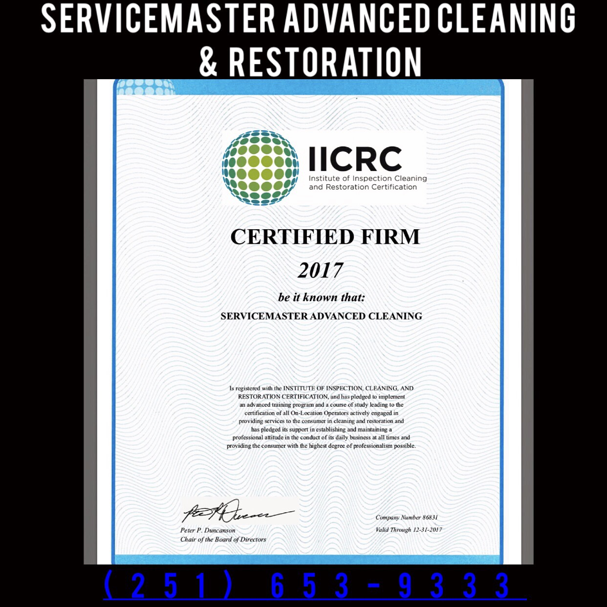 The Only Janitorial Service Certified In Water Damage Restoration In
